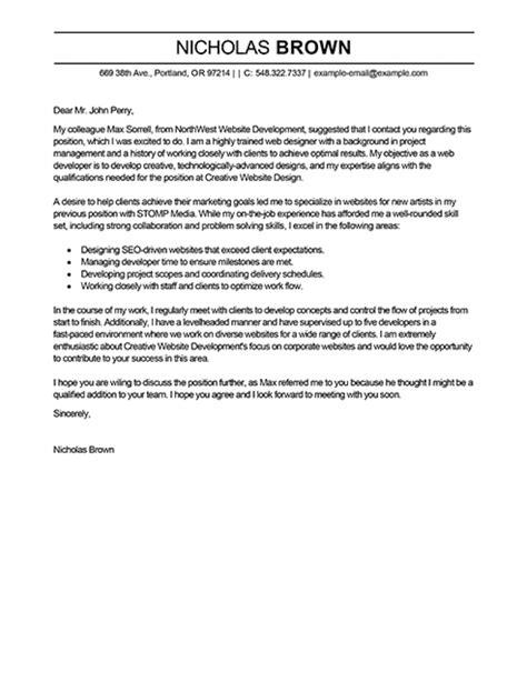 Cia Electrical Engineer Cover Letter by Web Designer Cover Letter Exles Cia Electrical Engineer Cover Letter