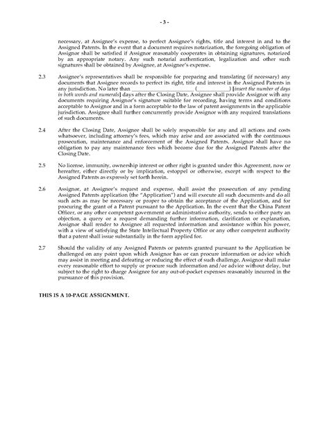 patent assignment agreement template china patent assignment agreement form forms and