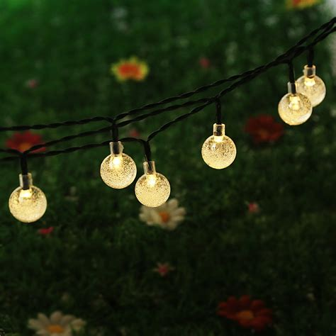 String Lights Outdoor Patio Newstyle 16 4ft 30 Led Solar Powered Outdoor String Lights For O