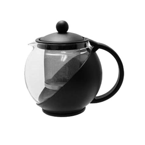 Cook Master Coffee Tea Server Clear Glass Pot Pour 1500 Ml tea pot 25 oz with removable stainless steel infuser glass carafe durable plastic black