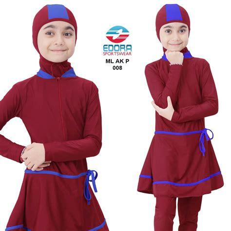 Beli Baju Winter Anak toko baju renang anak perempuan edora muslimah ml ak p 008 murah jual baju renang muslimah