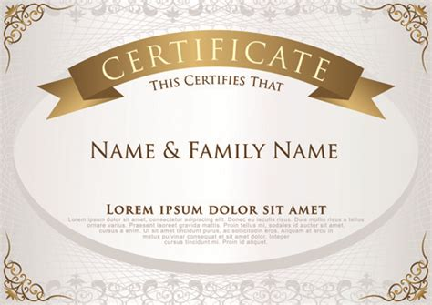 home design certificate design template unique patterned certificate design templates free vector download 13 031