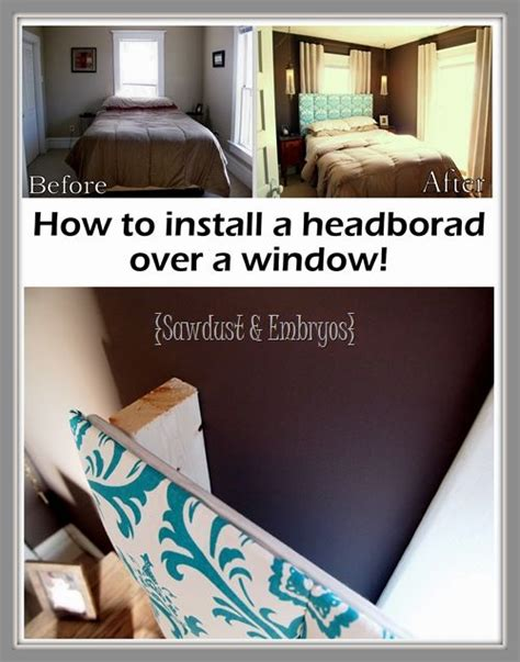 how to hang a headboard how to install a headboard over a window u2013 small
