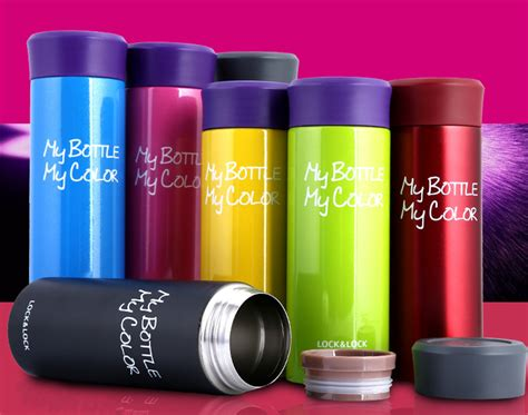 Colorful Thermos lock lock thermos mug fashion vacuum cup portable coffee cup colorful sport cold
