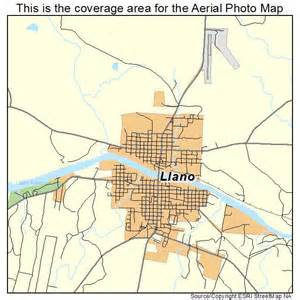 aerial photography map of llano tx