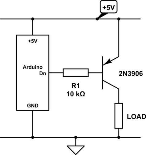 transistor pnp 5v is it possible to use an npn transistor to a 5v power supply from arduino electrical