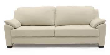 Farina sofa cream italian leather the simple uncomplicated design