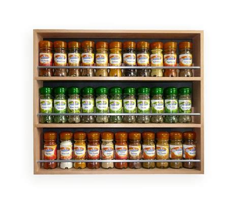 Spice Rack With Spices Contemporary Style Solid Beech Spice Rack 3 Tiers