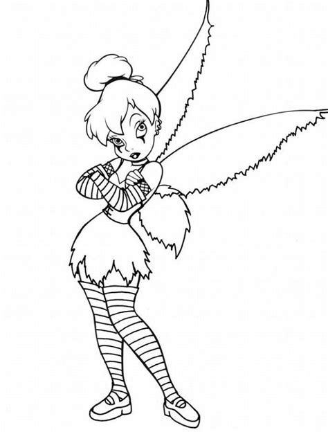 gothic tinkerbell coloring pages coloring home