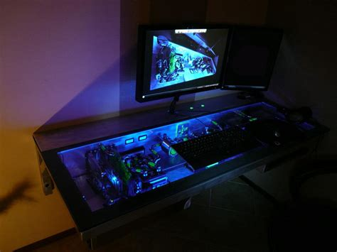awesome computer desk ultimate case mod www hardwarezone com sg