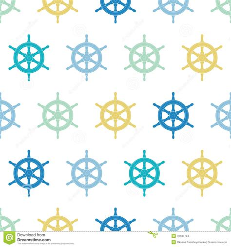 nautical pattern background nautical ship wheels colorful seamless pattern background