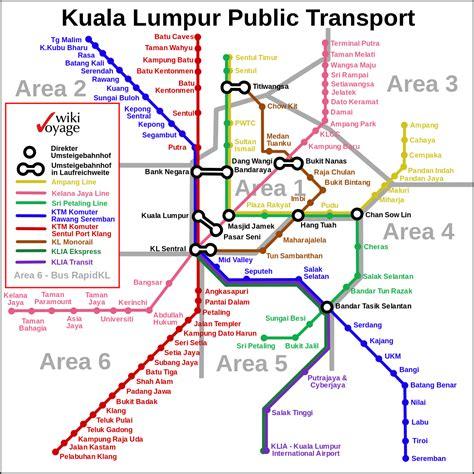 transport map kuala lumpur transport transportation