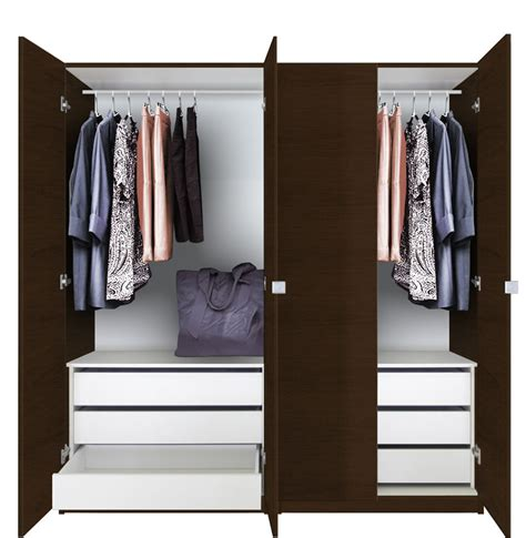Closet Packages Alta Wardrobe Closet Package 6 Drawer Wardrobe Package