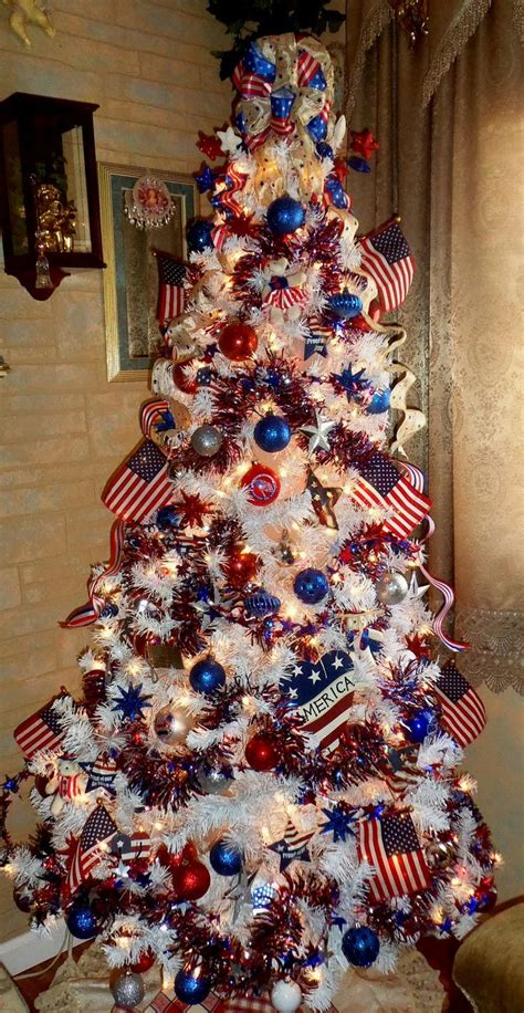 christmas tree lights america southern blue celebrations patriotic white blue ideas