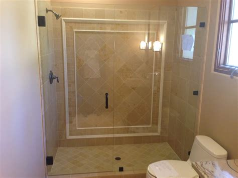 Frameless Shower Doors San Diego 3 8 Inch Frameless Enclosure Patriot Glass And Mirror