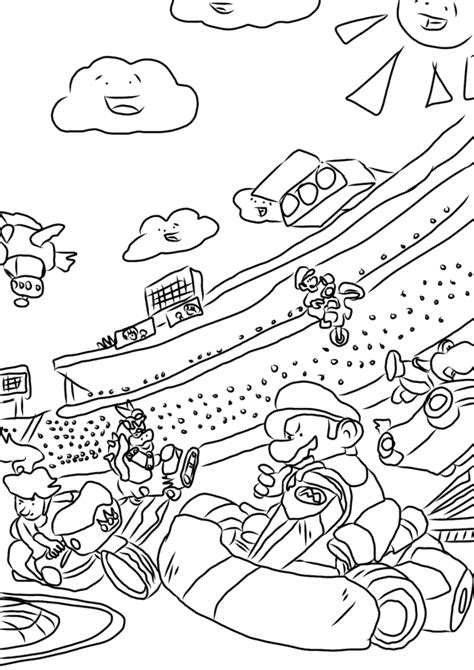 coloring pictures of mario kart characters mario kart coloring pages to print az coloring pages