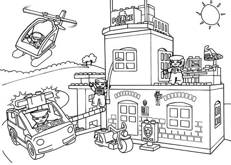 lego duplo coloring page lego police coloring page for kids printable free lego