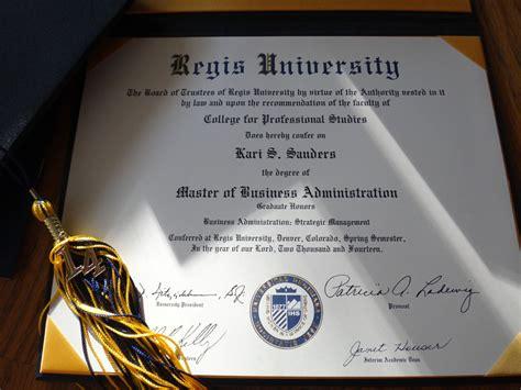 Regis Mba Program by Kari S Graduation From Regis May 3 2014