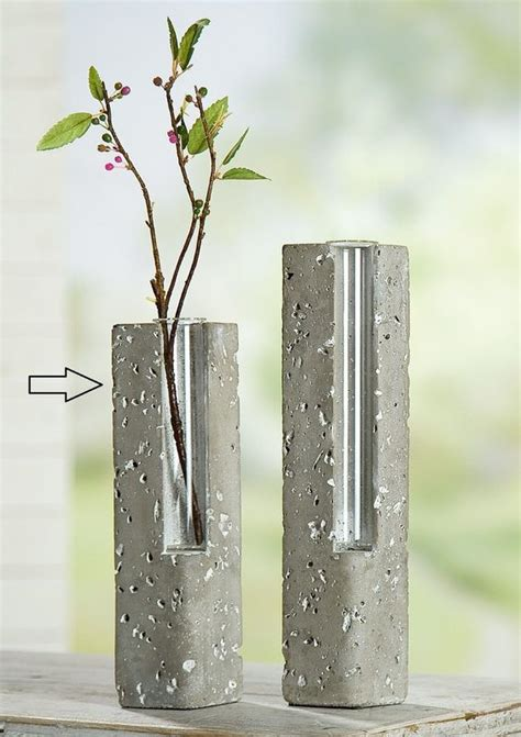 beton vase selber machen copper glass vase and glasses on