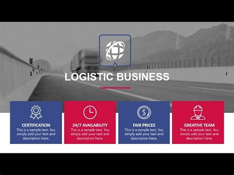 Logistics Powerpoint Presentation Template Youtube Logistics Ppt Template Free