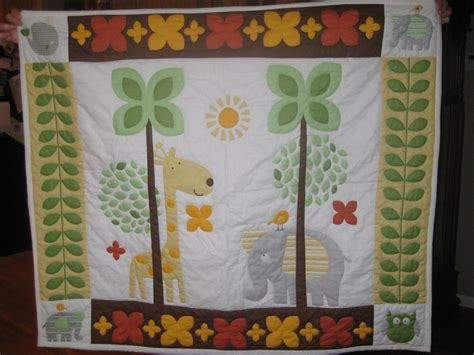items similar to quilted crib size baby quilt with