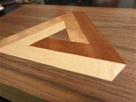wood doesnt grow  trees penrose triangle marquetry
