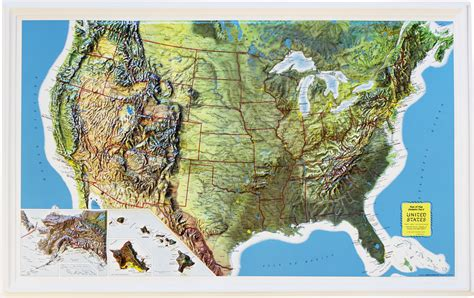 relief map buy usa relief map rand mcnally flagline