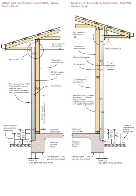 residential wall section detail exterior wall framing details single storey
