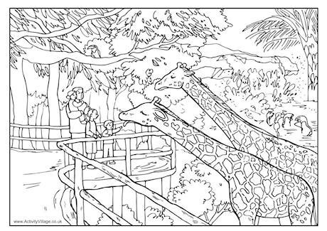 summer coloring pages activity village zoo coloring pages gianfreda net
