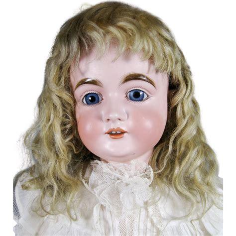 bisque doll wigs german bisque kestner doll original mohair wig lg