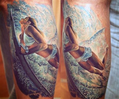 surfer tattoos 60 wave designs for an of manly ideas