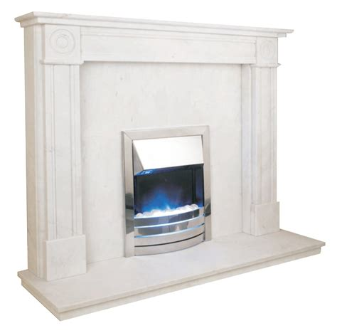 regent fireplace surround set in white marble 54