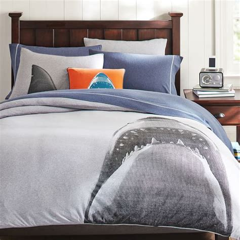 shark bedding shark tee duvet cover sham pbteen