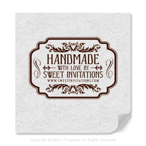 Handmade Label - personalized label custom label customizable st by 2impress