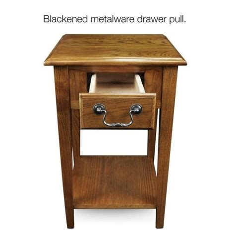 medium oak end tables leick furniture shaker square end table in medium oak