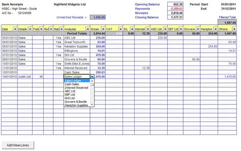 cash book with bank reconciliation cash book spreadsheet
