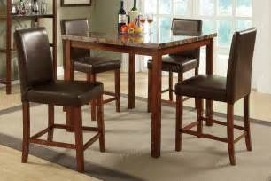 Dining Table And Chair Sets Dining 5 Set Breakfast Furniture Counter Height Table And 4 Chairs Ebay
