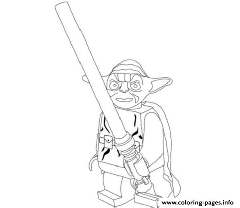 printable star wars yoda lego star wars yoda holding lightsabers coloring pages
