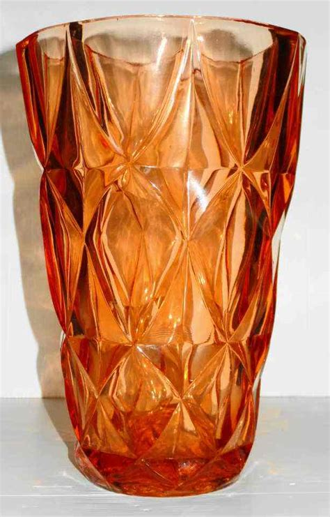 Sklo Union Vase by Vases Large Vintage Sklo Union Pressed Glass Vase Was