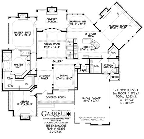 fairmoore house plan house plans by garrell associates inc