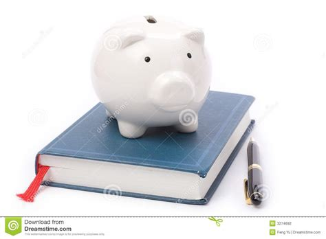 Book And Piggy Bank Stock Photography Image 3274692