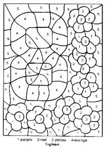 coloring pages with numbers color by number coloring pages