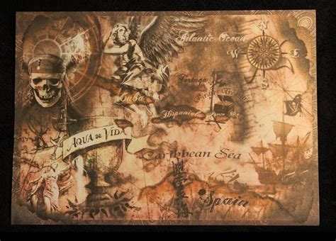 treasure maps pirates of the caribbean and caribbean on