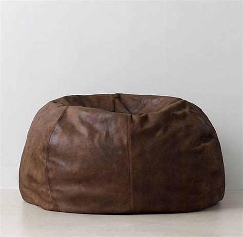 1000 ideas about leather bean bag on leather