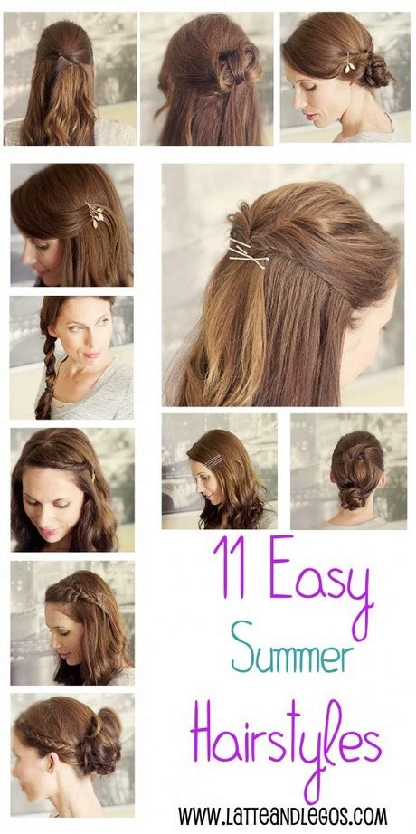 easy hairstyles on pinterest cute easy hairstyles for summer