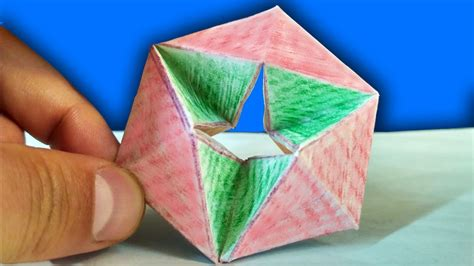 How To Make A Flexagon Out Of Paper - how to make a paper moving flexagon diy paper toys