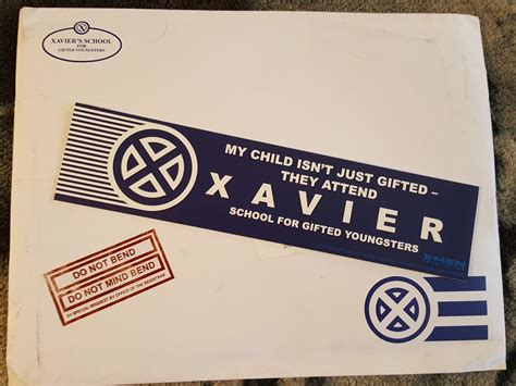 Xavier Acceptance Letter Xavier S School For Gifted Youngsters Admissions Letter