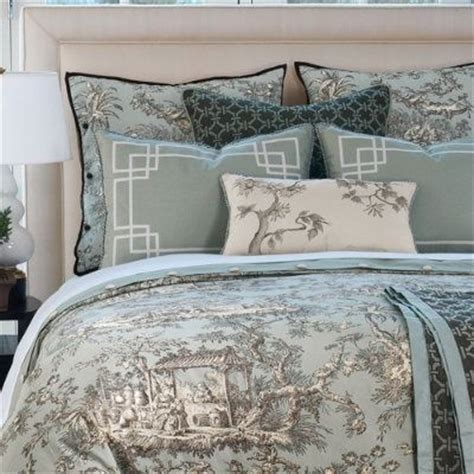 blue toile bedding camille toile shams