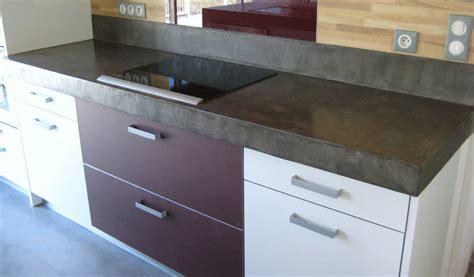 plan de travail cuisine effet beton peindre un plan de travail en b 233 ton cir 233