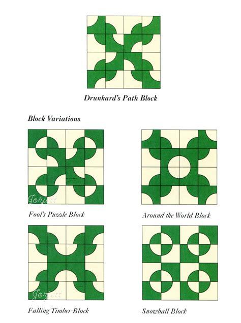 drunkard s path quilt circles curves quilt pattern